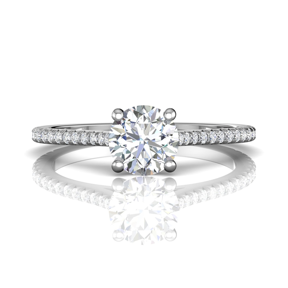 14K White Gold Engagement Ring by Martin Flyer