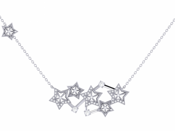Starburst Constellation Necklace in Sterling Silver by LuvMyJewelry