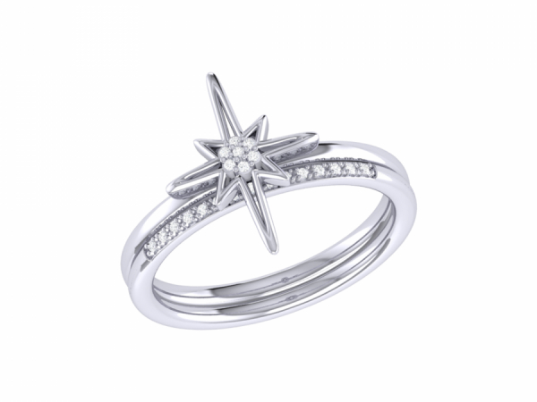 North Star Detachable Ring in Sterling Silver by LuvMyJewelry