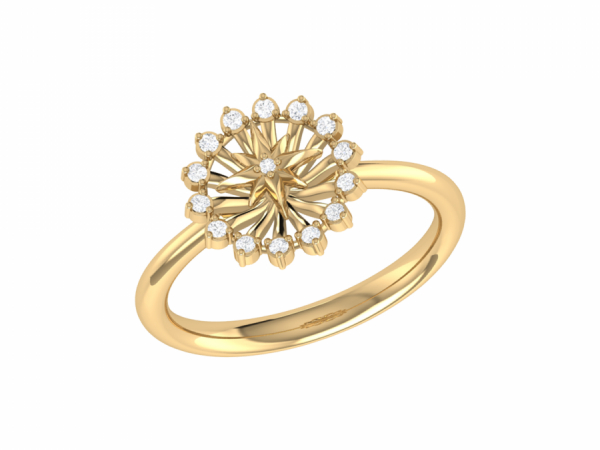 Starburst Ring in 14 KT Yellow Gold Vermeil on Sterling Silver by LuvMyJewelry