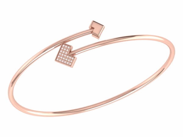 One Way Bangle in 14 KT Rose Gold Vermeil on Sterling Silver by LuvMyJewelry