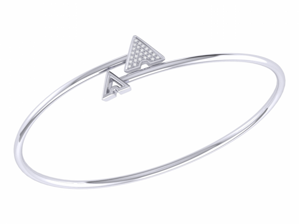 Skyscraper Roof Bangle in Sterling Silver by LuvMyJewelry