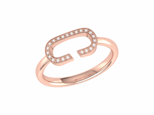 Celia C Ring in 14 KT Rose Gold Vermeil on Sterling Silver by LuvMyJewelry