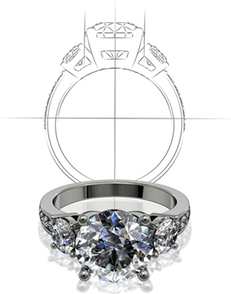 Create custom jewelry and engagement rings at Grogan Jewelers in Alabama and Tennessee